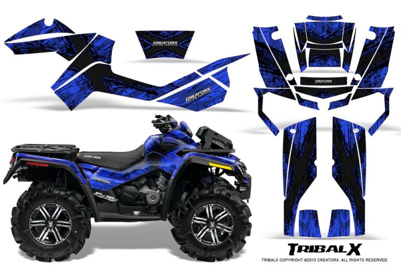 Can-Am-Outlander-XMR-CreatorX-Graphics-Kit-TribalX-Black-Blue