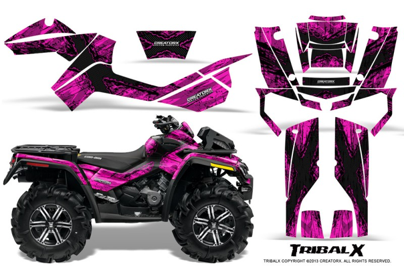 Can-Am-Outlander-XMR-CreatorX-Graphics-Kit-TribalX-Black-Pink