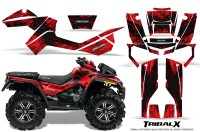 Can-Am-Outlander-XMR-CreatorX-Graphics-Kit-TribalX-Black-Red