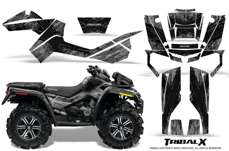 Can-Am-Outlander-XMR-CreatorX-Graphics-Kit-TribalX-Black-Silver
