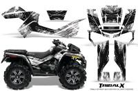 Can-Am-Outlander-XMR-CreatorX-Graphics-Kit-TribalX-Black-White