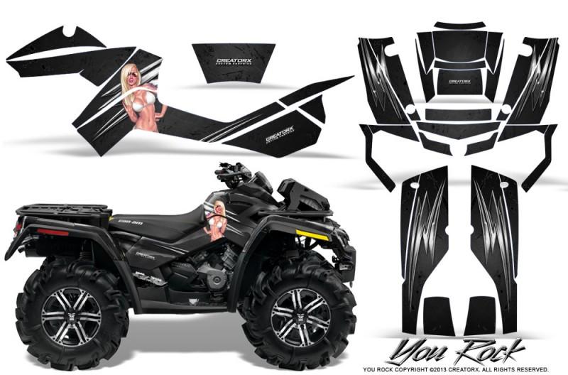 Can-Am-Outlander-XMR-CreatorX-Graphics-Kit-You Rock-Black