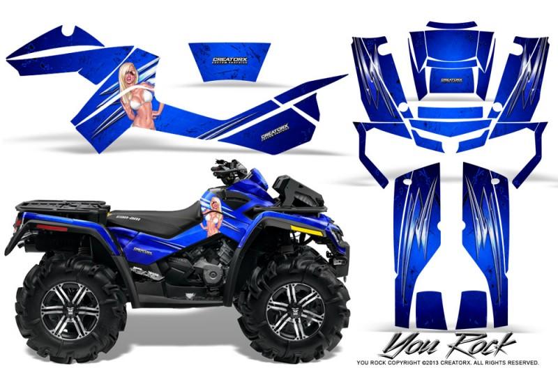Can-Am-Outlander-XMR-CreatorX-Graphics-Kit-You Rock-Blue