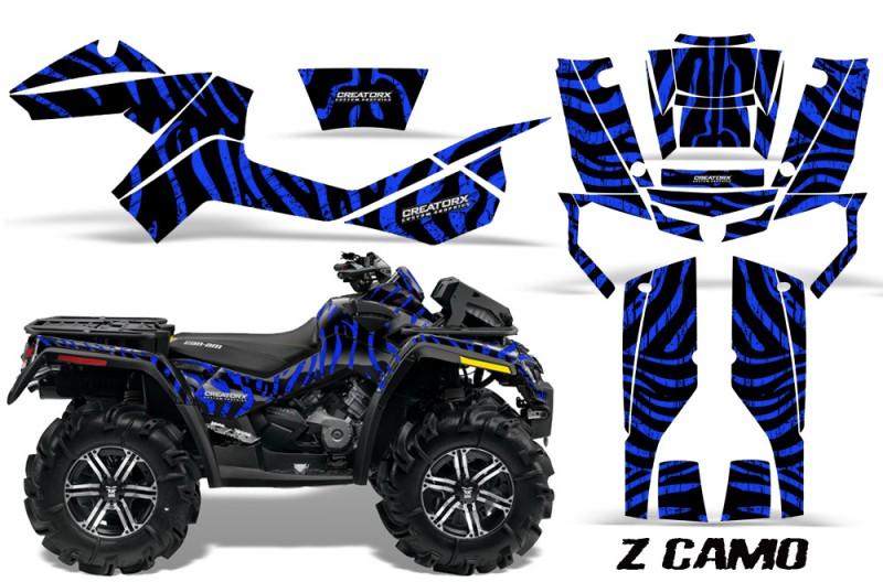 Can-Am-Outlander-XMR-CreatorX-Graphics-Kit-ZCamo-Black-Blue