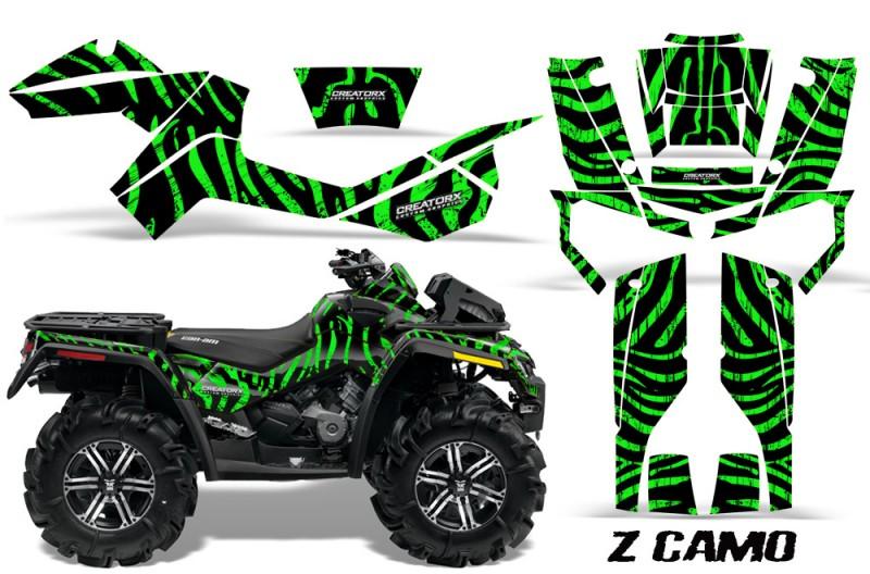 Can-Am-Outlander-XMR-CreatorX-Graphics-Kit-ZCamo-Black-Green