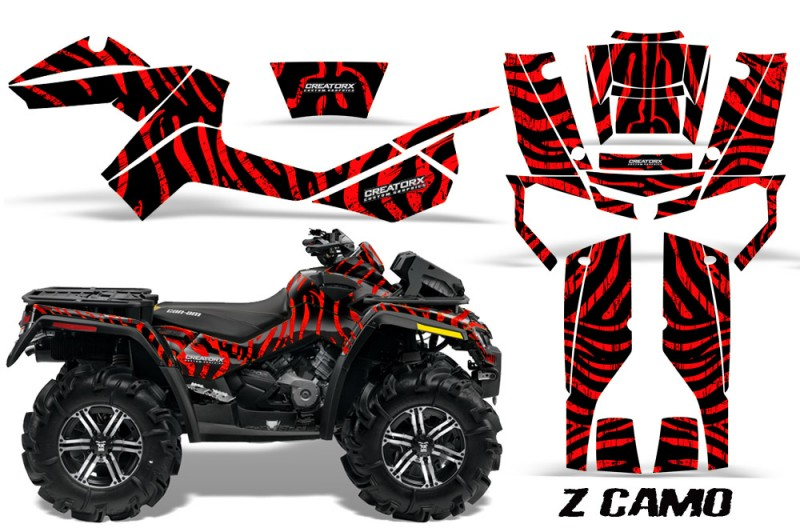 Can-Am-Outlander-XMR-CreatorX-Graphics-Kit-ZCamo-Black-Red-BB