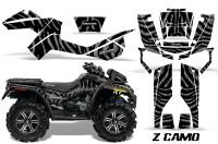 Can-Am-Outlander-XMR-CreatorX-Graphics-Kit-ZCamo-Black-Silver
