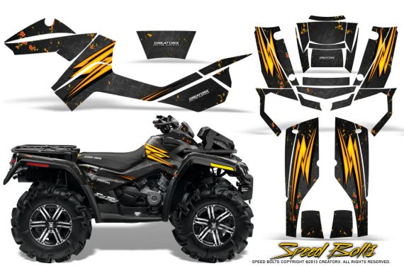 Can-Am-Outlander-XMR-Graphics-Kit-Speed-Bolts-Black