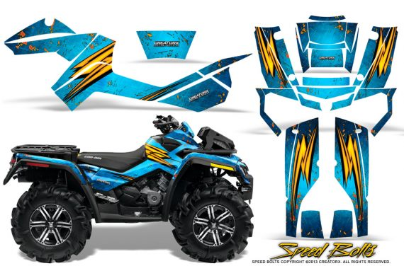 Can-Am-Outlander-XMR-Graphics-Kit-Speed-Bolts-BlueIce