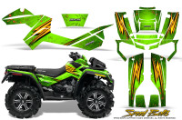 Can-Am-Outlander-XMR-Graphics-Kit-Speed-Bolts-Green
