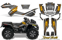 Can-Am-Outlander-XMR-Graphics-Kit-Speed-Bolts-Silver
