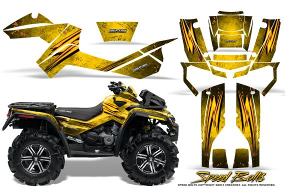 Can-Am-Outlander-XMR-Graphics-Kit-Speed-Bolts-Yellow