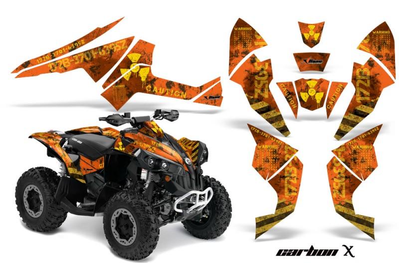 Can-Am-Renegade-800-AMR-Graphics-Kit-Meltdown-Yellow-Orange