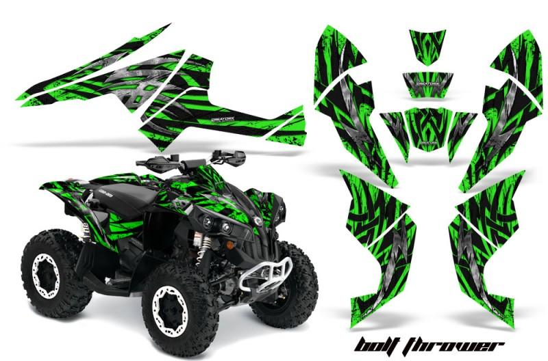 Can-Am-Renegade-800-CreatorX-Graphics-Kit-Bolt-Thrower-Green-BB