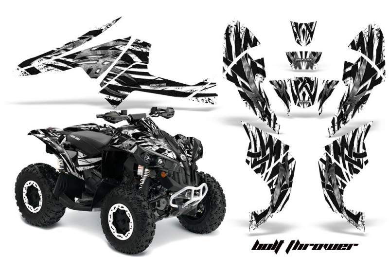 Can-Am-Renegade-800-CreatorX-Graphics-Kit-Bolt-Thrower-White-BB
