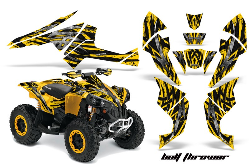 Can-Am-Renegade-800-CreatorX-Graphics-Kit-Bolt-Thrower-Yellow-YY