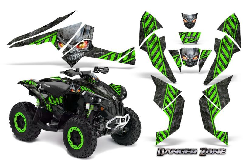 Can-Am-Renegade-800-CreatorX-Graphics-Kit-Danger-Zone-Green-Black-BB