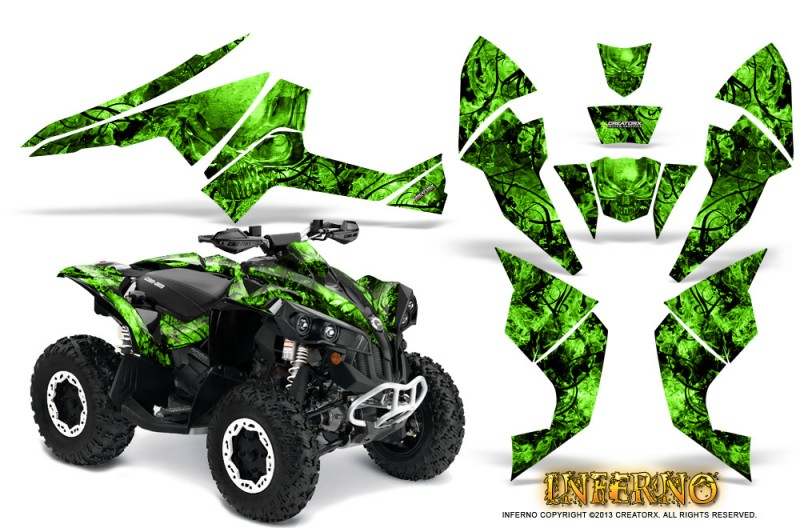 Can-Am-Renegade-800-CreatorX-Graphics-Kit-Inferno-Green