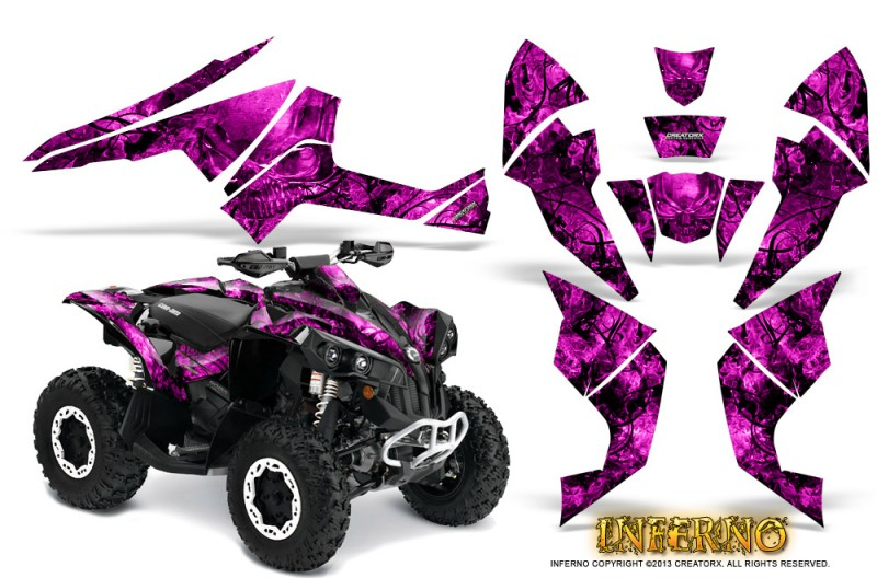 Can-Am-Renegade-800-CreatorX-Graphics-Kit-Inferno-Pink