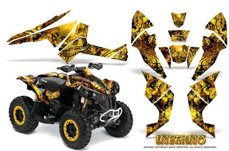 Can-Am-Renegade-800-CreatorX-Graphics-Kit-Inferno-Yellow