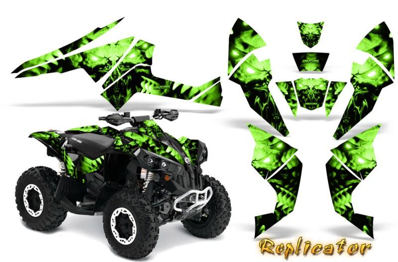 Can-Am-Renegade-800-CreatorX-Graphics-Kit-Replicator-Green-BB