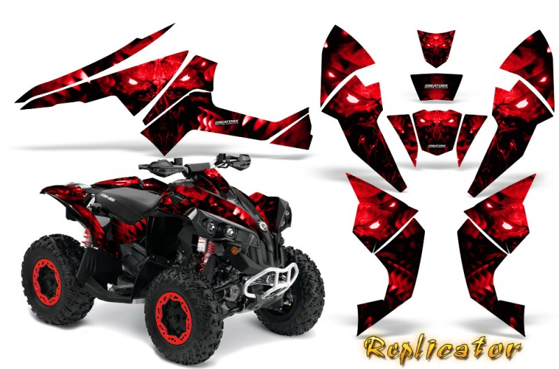 Can-Am-Renegade-800-CreatorX-Graphics-Kit-Replicator-Red
