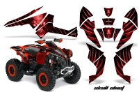 Can-Am-Renegade-800-CreatorX-Graphics-Kit-Skull-Chief-Red