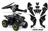 Can-Am-Renegade-800-CreatorX-Graphics-Kit-Skull-Chief-Silver