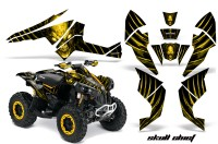 Can-Am-Renegade-800-CreatorX-Graphics-Kit-Skull-Chief-Yellow