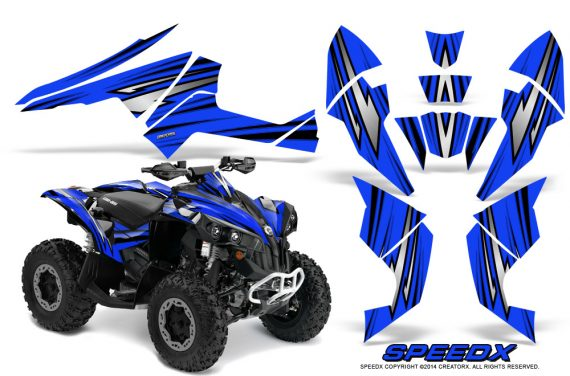 Can-Am-Renegade-800-CreatorX-Graphics-Kit-SpeedX-Blue