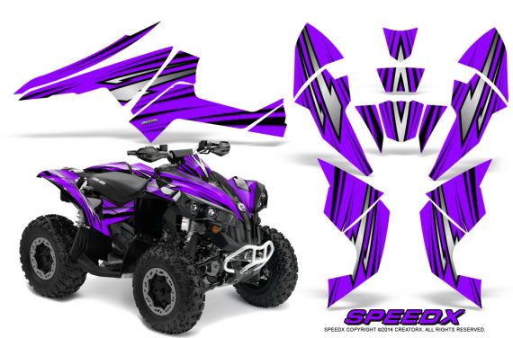 Can-Am-Renegade-800-CreatorX-Graphics-Kit-SpeedX-Purple
