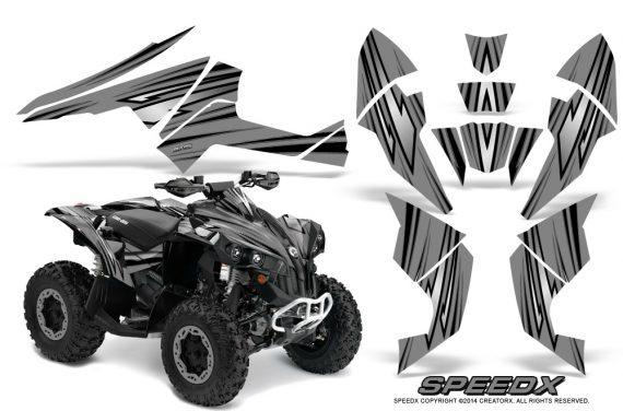 Can-Am-Renegade-800-CreatorX-Graphics-Kit-SpeedX-Silver