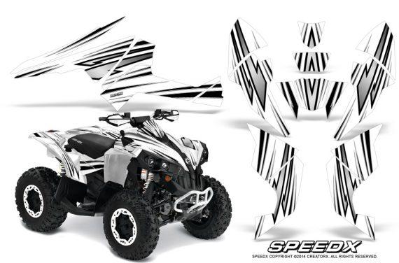 Can-Am-Renegade-800-CreatorX-Graphics-Kit-SpeedX-White