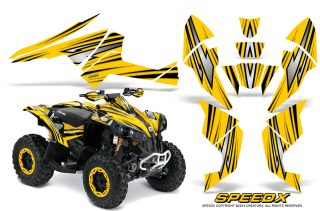 Can Am Renegade 800 CreatorX Graphics Kit SpeedX Yellow 320x211 - Can-Am Renegade 500 800r 800x 1000 Graphics