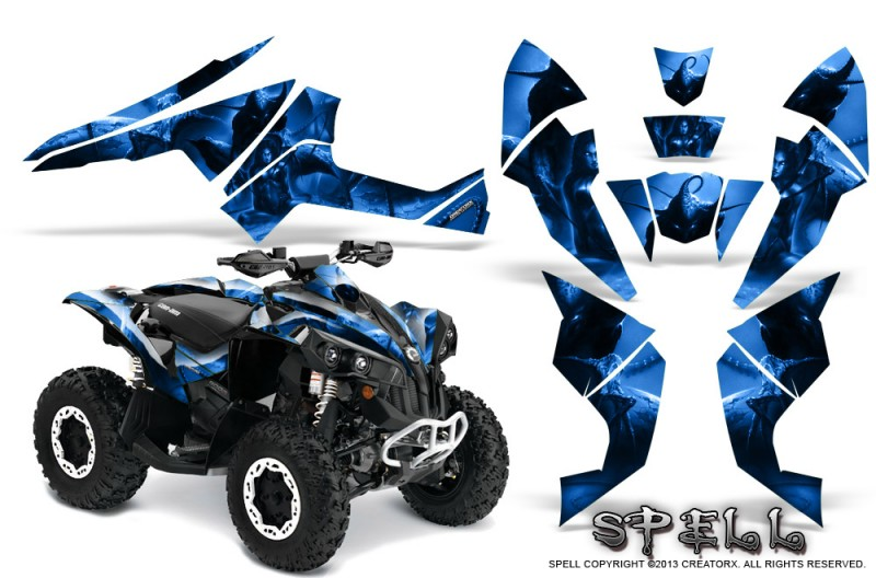 Can-Am-Renegade-800-CreatorX-Graphics-Kit-Spell-Blue
