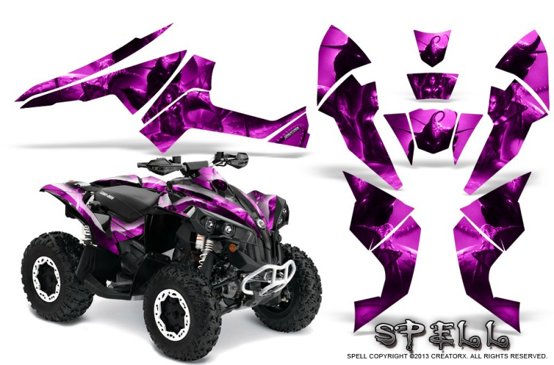 Can-Am-Renegade-800-CreatorX-Graphics-Kit-Spell-Pink
