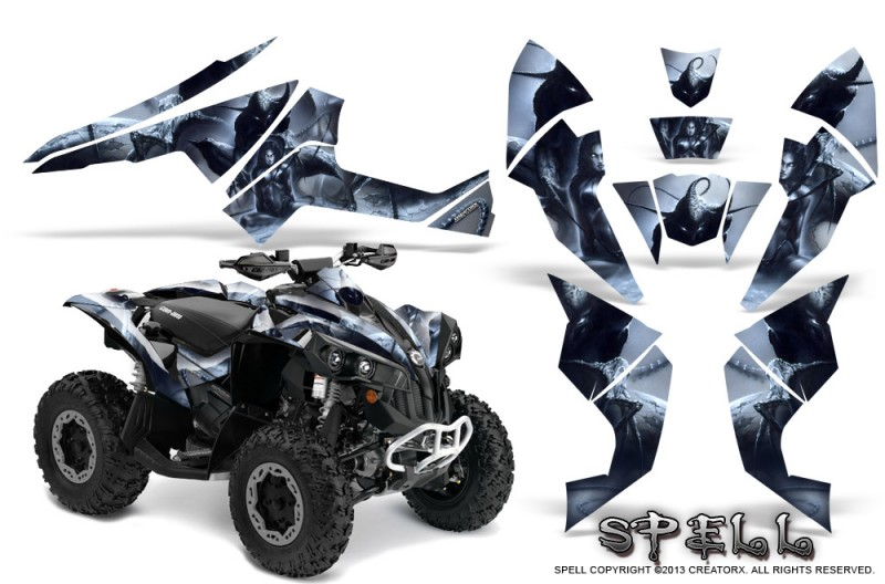 Can-Am-Renegade-800-CreatorX-Graphics-Kit-Spell-Silver