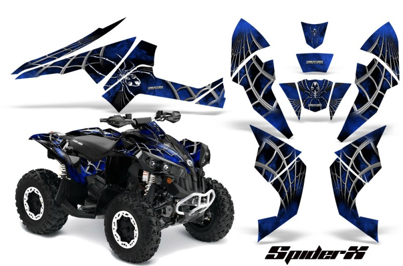 Can-Am-Renegade-800-CreatorX-Graphics-Kit-SpiderX-Blue