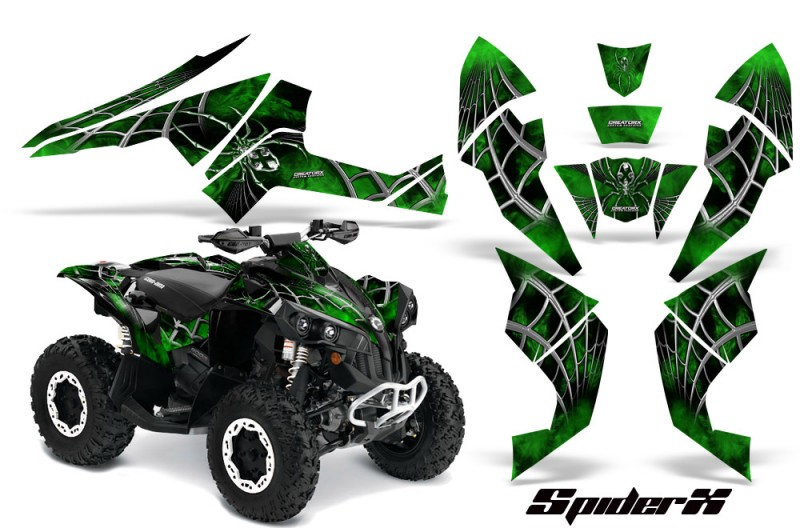 Can-Am-Renegade-800-CreatorX-Graphics-Kit-SpiderX-Green