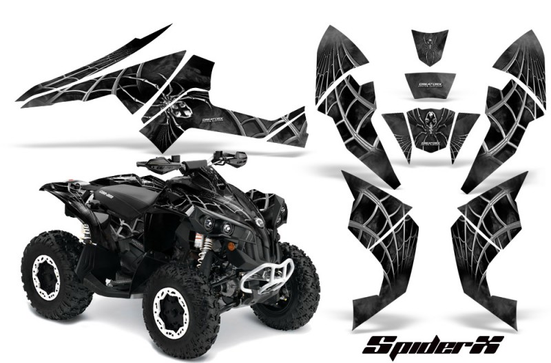 Can-Am-Renegade-800-CreatorX-Graphics-Kit-SpiderX-Silver