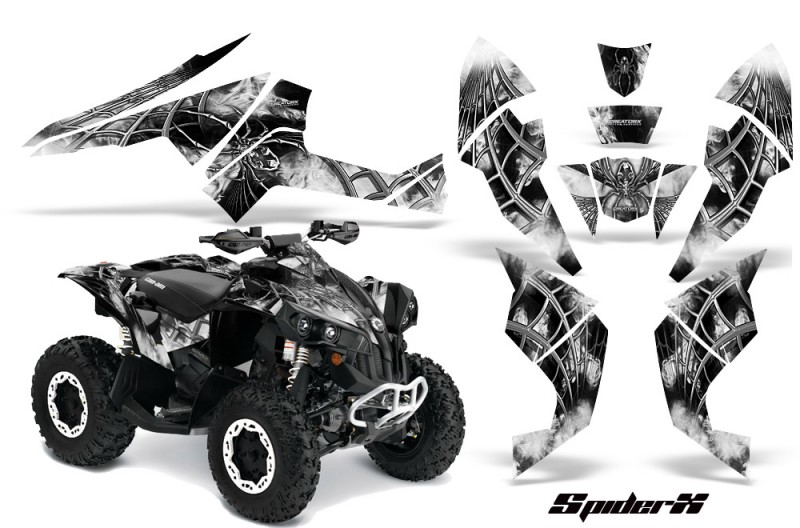 Can-Am-Renegade-800-CreatorX-Graphics-Kit-SpiderX-White