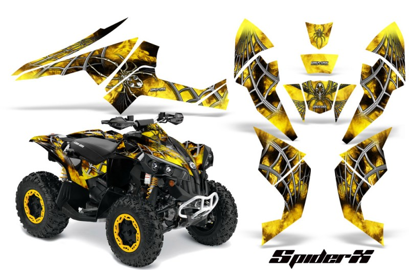 Can-Am-Renegade-800-CreatorX-Graphics-Kit-SpiderX-Yellow-BB
