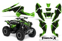 Can-Am-Renegade-800-CreatorX-Graphics-Kit-TribalX-Black-Green