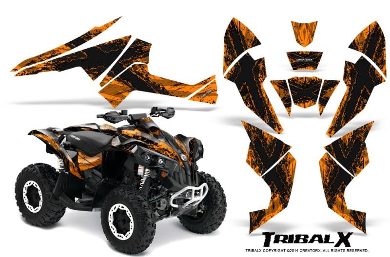Can-Am-Renegade-800-CreatorX-Graphics-Kit-TribalX-Black-Orange