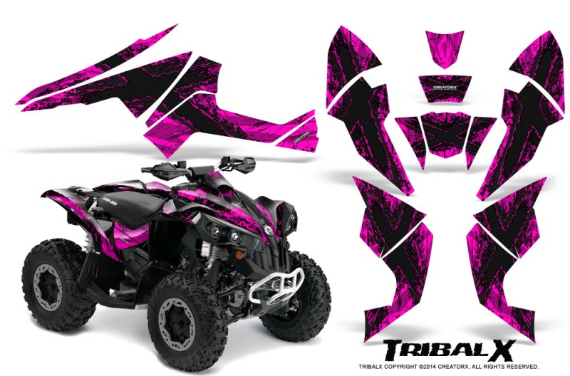 Can-Am-Renegade-800-CreatorX-Graphics-Kit-TribalX-Black-Pink