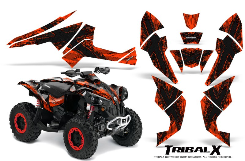Can-Am-Renegade-800-CreatorX-Graphics-Kit-TribalX-Black-Red