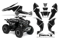 Can-Am-Renegade-800-CreatorX-Graphics-Kit-TribalX-Black-Silver