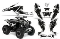 Can-Am-Renegade-800-CreatorX-Graphics-Kit-TribalX-Black-White