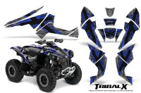 Can-Am-Renegade-800-CreatorX-Graphics-Kit-TribalX-Blue-Silver