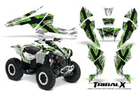 Can-Am-Renegade-800-CreatorX-Graphics-Kit-TribalX-Green-White